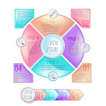 Infográfico 3d brilhante