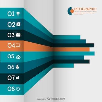 Infográfico 3d com rótulos
