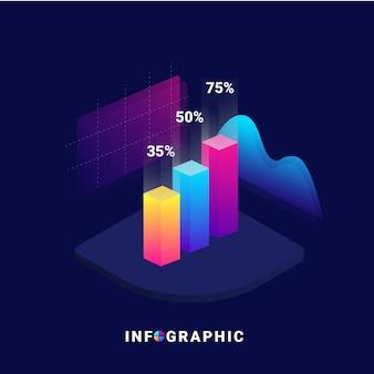 Infográfico 3d isométrico