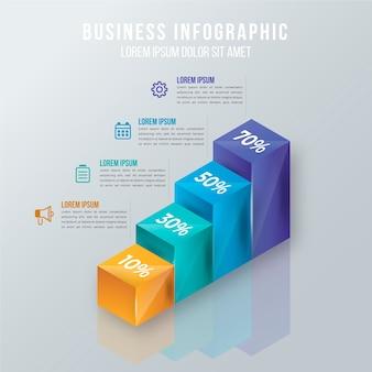 Infográfico 3d lustroso conceito
