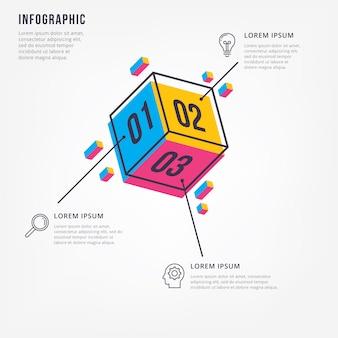 Infográfico 3d mínimo