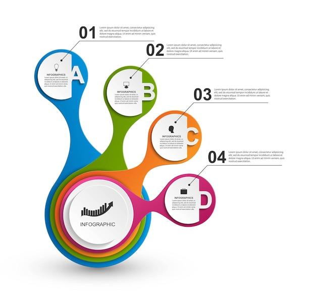 Infográfico abstrato em forma metabólica. elementos de design.