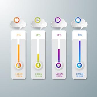 Infográfico abstrato moderno modelo digital