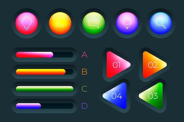 Infográfico brilhante 3d conceito de coleção