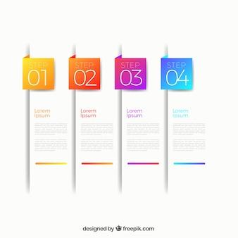 Infográfico colorido com estilo moderno