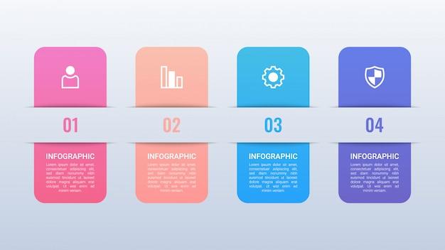 Infográfico colorido com opções
