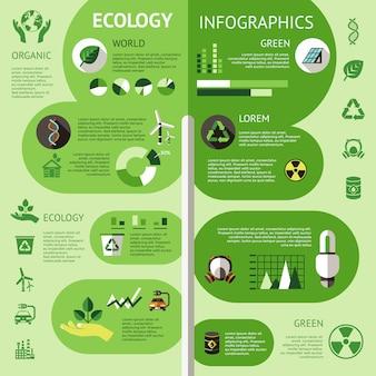 Infográfico colorido de ecologia