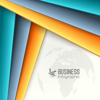 Infográfico colorido de negócios