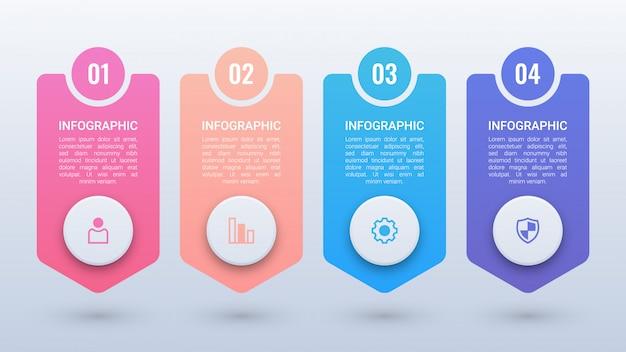 Infográfico colorido limpo com opções