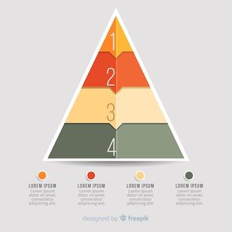 Infográfico colorido passos conceito em estilo simples