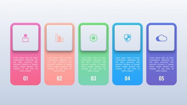 Infográfico colorido simples com opções