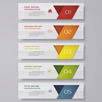 Infográfico com banners horizontais
