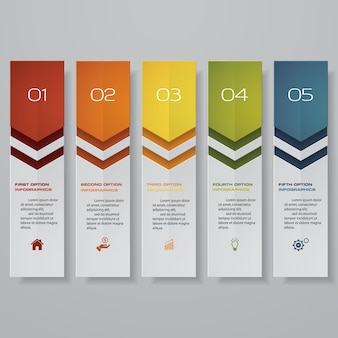 Infográfico com banners hotizontal