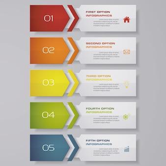 Infográfico com banners verticais