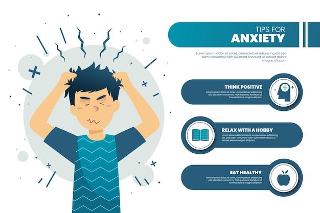 Infográfico com dicas de ansiedade