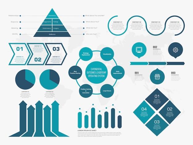 Infográfico com ícone para estratégia de negócios