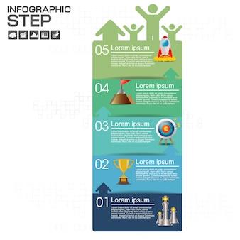 Infográfico com ícones de negócios