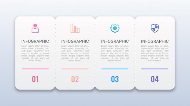 Infográfico com opções