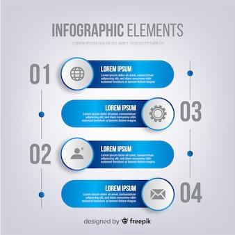 Infográfico com passo e opções
