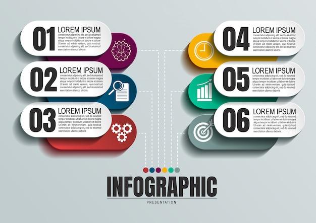 Infográfico com seis etapas
