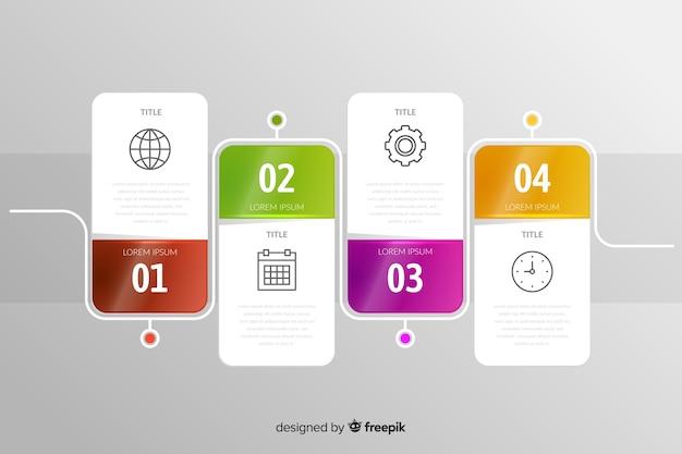 Infográfico conjunto de etapas fases modelo