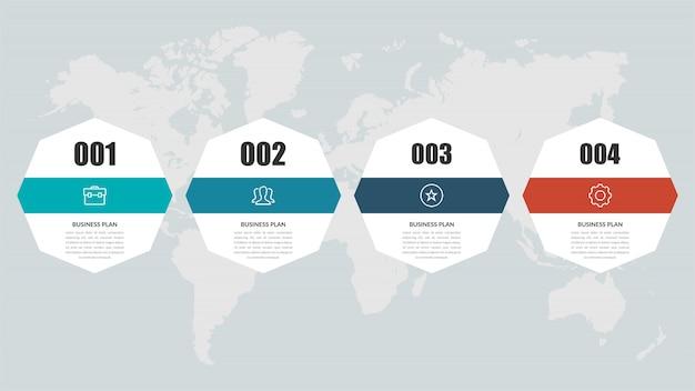 Infográfico da linha do tempo abstrata