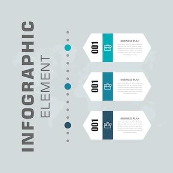 Infográfico da linha do tempo hexagonal