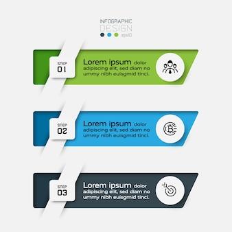 Infográfico de 3 etapas.