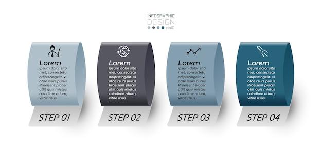 Infográfico de 4 etapas.