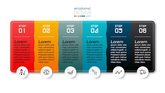 Infográfico de 6 etapas.