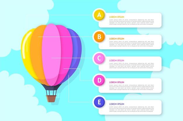 Infográfico de balão conceito