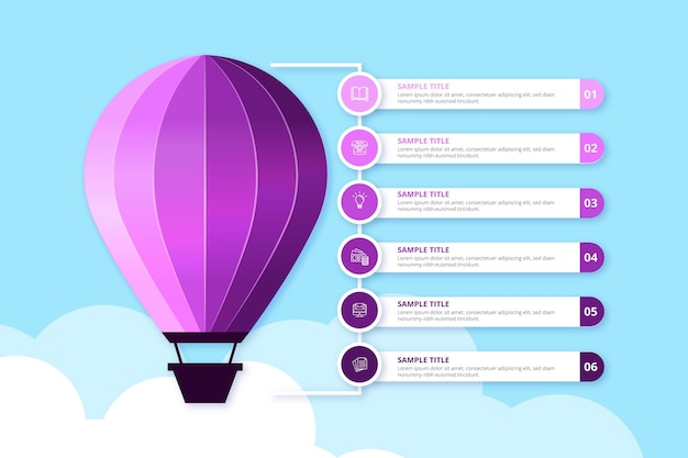 Infográfico de balão realista