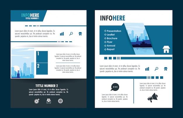 Infográfico de brochura da cidade