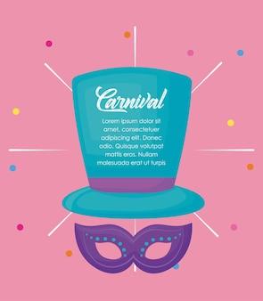 Infográfico de carnaval de circo