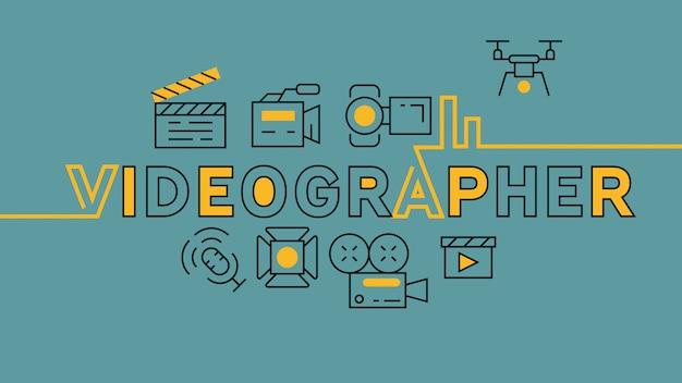 Infográfico de cinegrafista