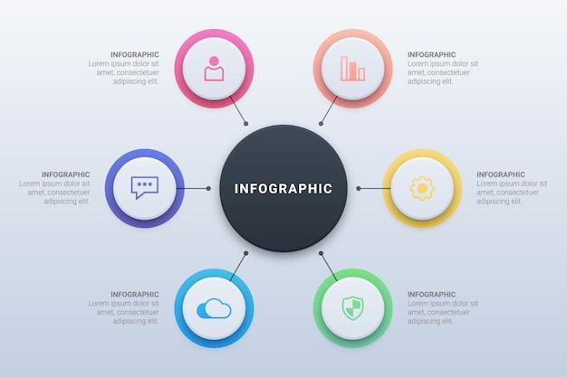 Infográfico de círculo com opções