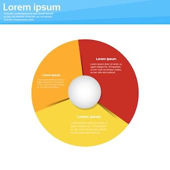 Infográfico de círculo de diagrama de pizza de finanças