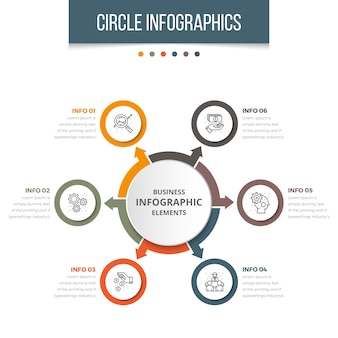 Infográfico de círculo de negócios simples