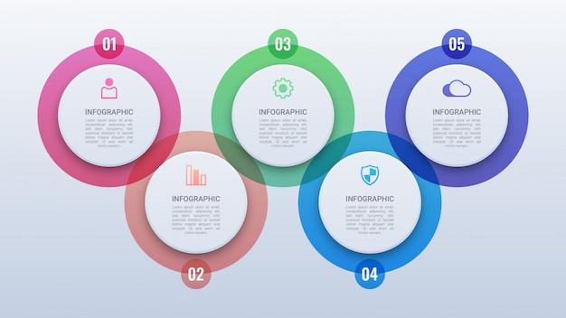 Infográfico de círculo moderno com opções