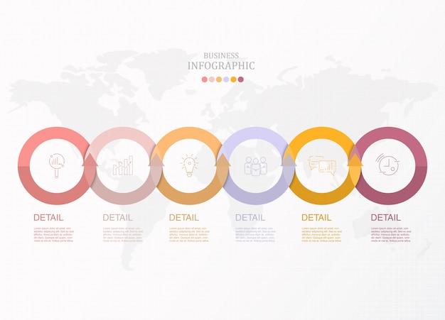 Infográfico de círculos básicos para negócios