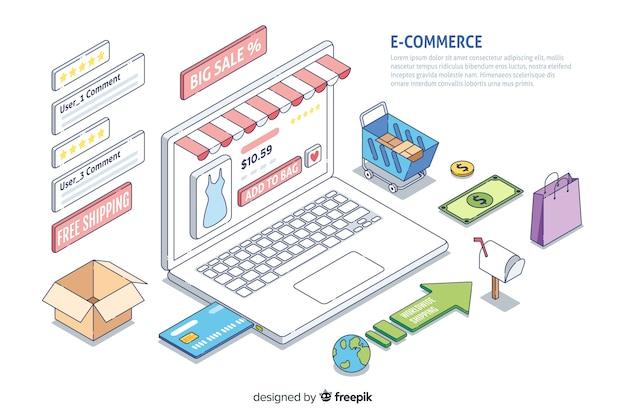 Infográfico de comércio eletrônico