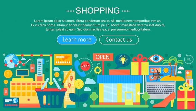 Infográfico de compras on-line