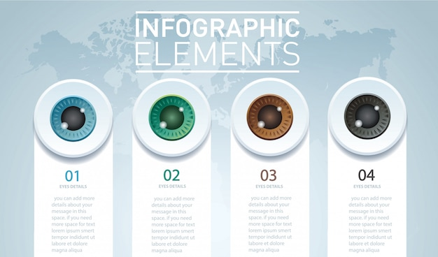 Infográfico de cor de olhos