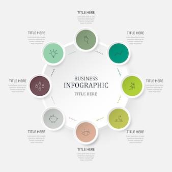 Infográfico de cores verdes