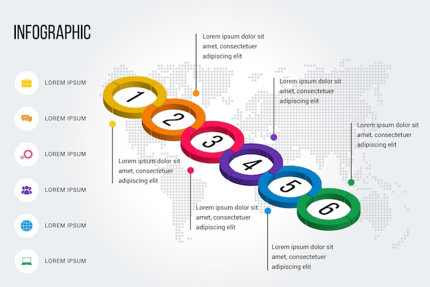 Infográfico de cronograma isométrico