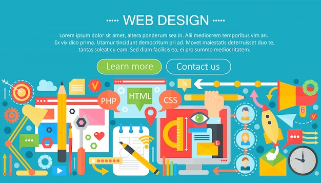 Infográfico de design da web