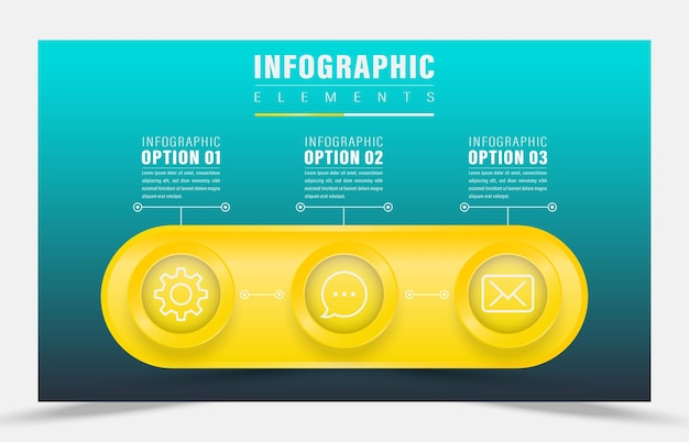 Infográfico de design de ilustração vetorial elemento de ideia principal