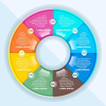 Infográfico de diagrama circular plano