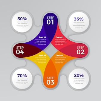 Infográfico de diagrama circular realista Vetor grátis