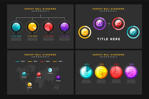 Infográfico de diagrama de bola harvey realista
